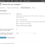 Advanced post navigator plugin settings page 3