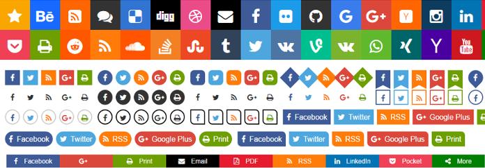 Free Social Buttons Sharebar Generator Aakash Web