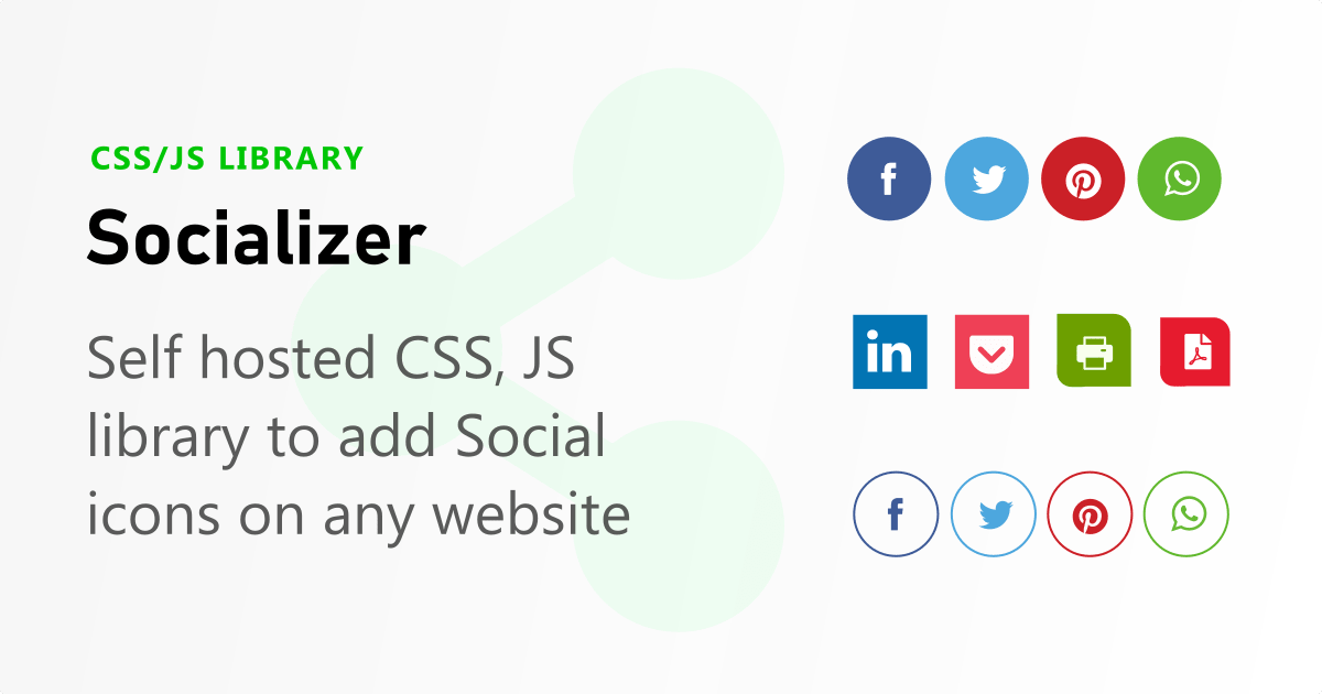 Socializer CSS, JS library