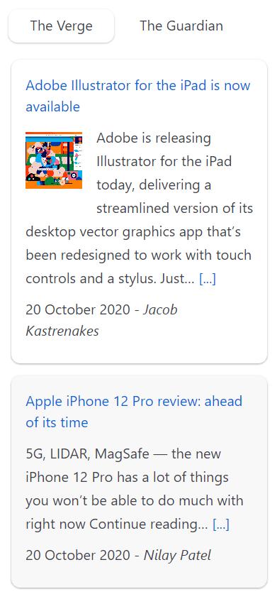 Super RSS reader PRO - Card color theme