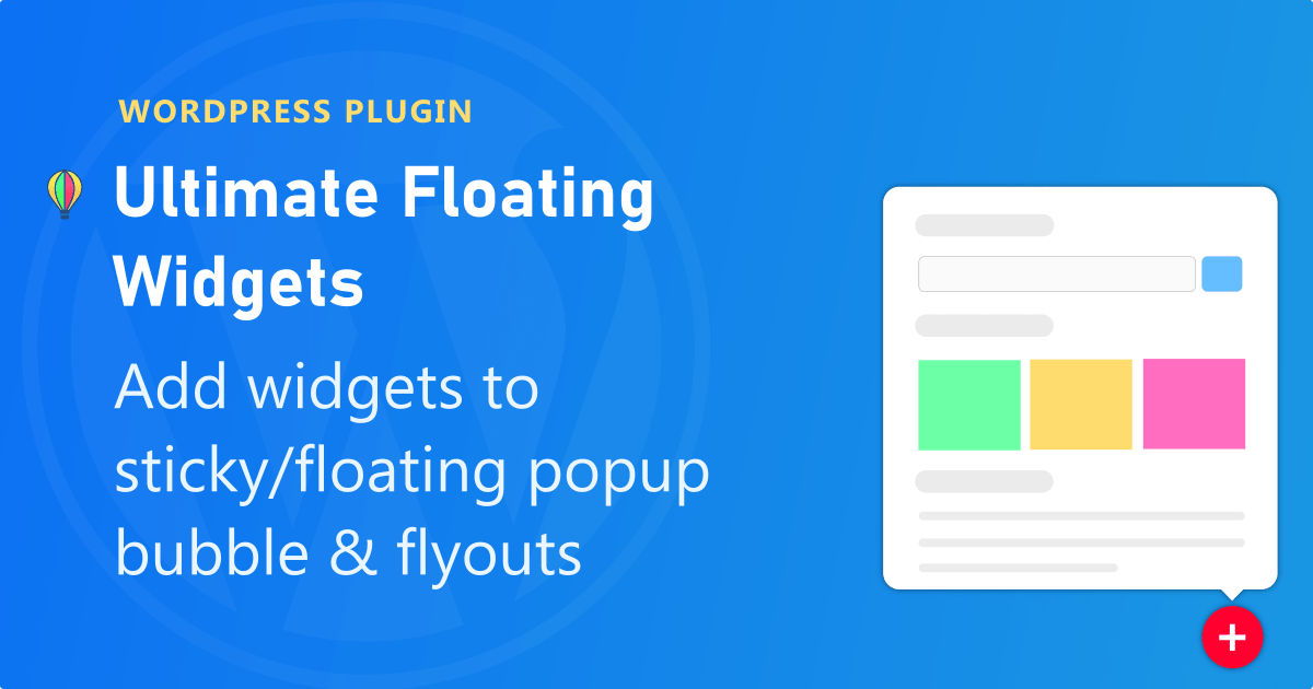 Ultimate floating widgets