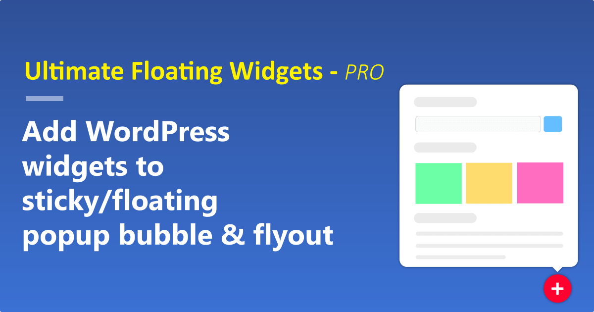 Ultimate floating widgets - Pro