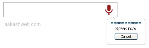Webkit voice input