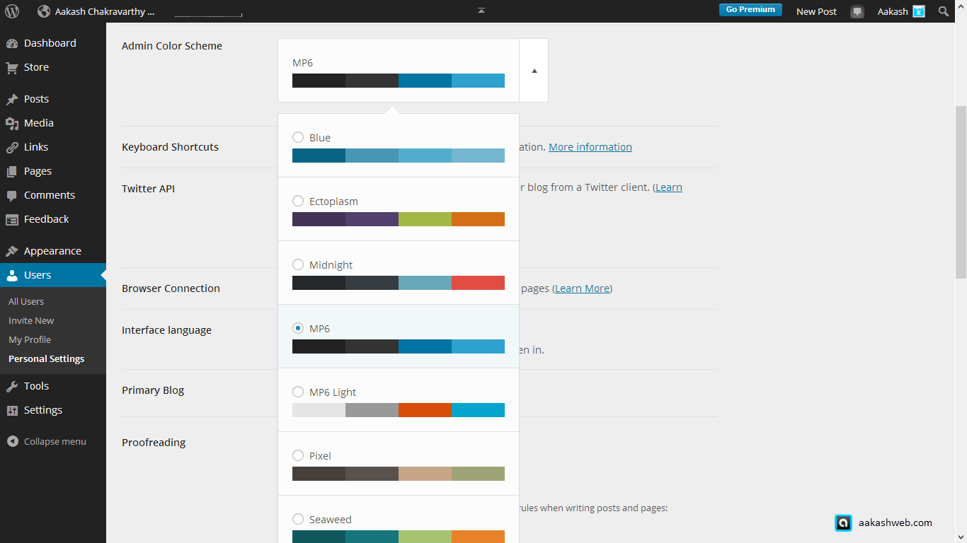 New features in WordPress 3.8