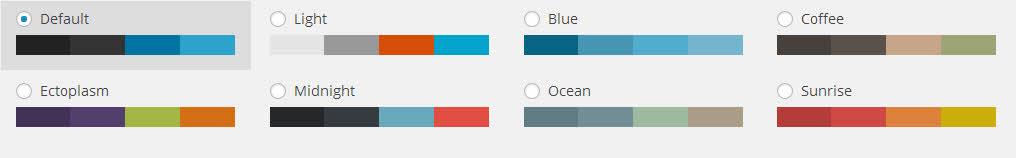 Wordpress color schemes